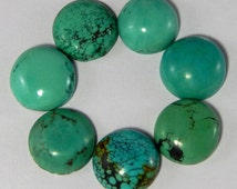 5 Pcs. Lot of Stunning Natural Turquoise 16x16 MM Round Shape Gemstone Cabochon
