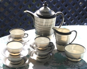 Gorgeous Vintage 1920's Bone China Coffee set made in Germany