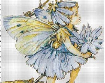 Blue Fairy - Vintage Cross Stitch Pattern - Instant Download