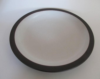 Vintage Heath Ceramics Brown and White Rim Line Dinner Plate