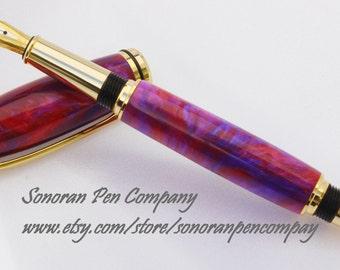 Baron Tanzanite Fire Lava Fountain pen