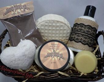 Organic Gift Basket, Bath and Beauty, Bath Gift Basket, Aromatherapy Basket, Gift Set, Natural, Handmade, Skin Care
