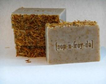 Chamomile Calendula handcrafted vegan cold process soap