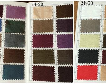 Taffeta samples for color confirmation