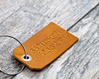 Coordinates Personalized Custom Luggage Tags
