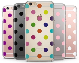Polka Dots Clear iPhone Case, iPhone 6 plus clear case Transparent iPhone Case, Polkadots iPhone case, iphone 7 case, iphone 7 plus case