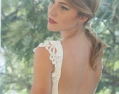 Christmas in July Sale Wedding bodysuit - Ivory wedding gown bodysuit custom made to order/ bridal top with pearls and lace