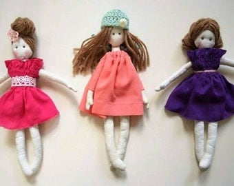 Handmade MollyDolly doll for your girl cloth doll rag doll waldorf inspired
