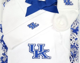 Kentucky Wildcats 3 Piece Baby Clothing Gift Set