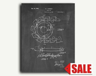 Patent Print - Chain Saw Patent Wall Art Poster