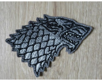 Patch / badge Wolf Stark Game Of Thrones 10cm wide