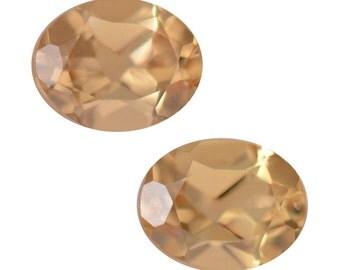 Yellow Garnet Loose Gemstones Set of 2 Oval Cut 1A Quality 5x4mm TGW 0.70 Cts.