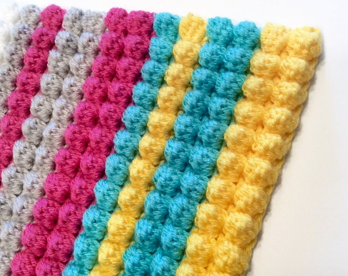 OOAK Tummy Time Mat or Bright Throw Rug