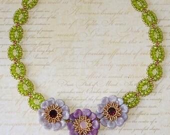 DIGITAL TUTORIAL - Sweet Anemone Necklace Tutorial