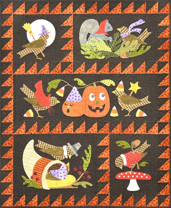 Bertie's Autumn Quilt Pattern Set & Button Pack