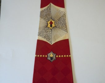 Cool Late 1940s / Early 1950s Rayon Swing Tie