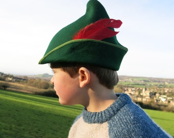 Childs felt Peter Pan/ Robin Hood/ Elf hat