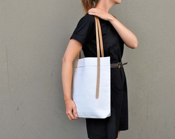 Minimalist canvas tote bag, Personalized tote bag handmade, ready to ship canvas shopping bag, tote bag