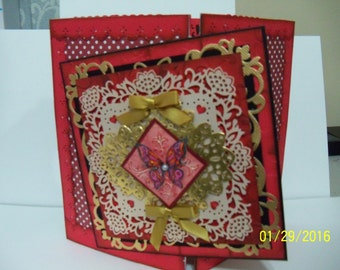Valentine Gate Fold Card