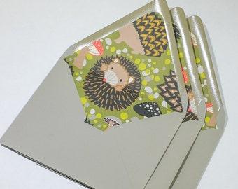 A2 Envelopes | Hedgehog Liners | Set of 4 | Gravel Grey