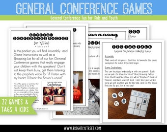 "General Conference Packet for Kids ""Listening Games"""