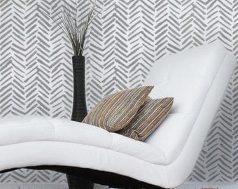 CHEROKE Wall Furniture Craft Stencil - Tribal Herringbone Stencil - CH003