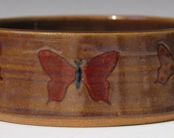 Butterfly Dog Bowl