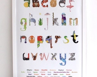 A2 Wooden Poster Frame - to be bought in conjunction with Made by Nell's A2 Animal Alphabet posters