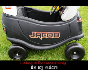 Custom Name Logo 4 : New Replacement Decals Stickers fits Little Tikes Tykes Cozy Coupe Car
