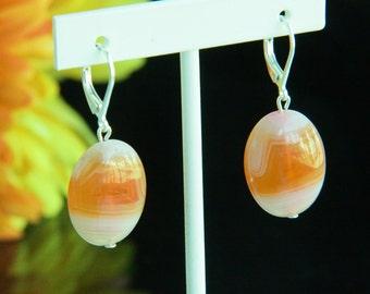 Rainbow Agate Gemstone Earrings