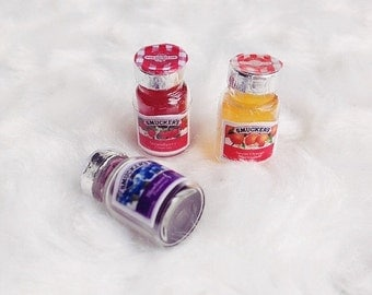 On Sale Doll house miniature Fruit Jam Bottle, Jam bottle Miniature,Doll house,Miniature Accessory, Miniature Sweet,Miniature Jam,Miniature