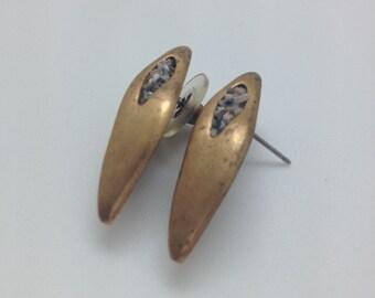 Boho jewelry, Abalone and sea beads on brass inlay, boho jewelry cheap, bohemian earrings, bohemian chic jewelry FREE SHIPPING!