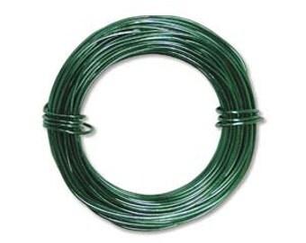 Beadsmith 18 ga Aluminum Wire Kelly Green 39ft