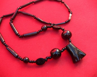 Black Coral Necklace - Raw Beauty