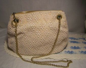 Ladies Vintage Walbaeg Hand Beaded Purse Made In Hong Kong 1960's