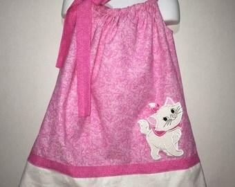 Aristocats Marie Kitty Cat Girl Pillowcase Pillow Case Girl Boutique Summer Sun Dress! Birthday Party Aristocrat Aristocat Park