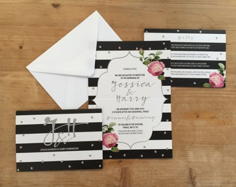 Classic Stripes Wedding Invitation