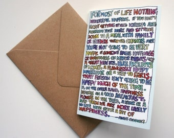 Happiness Quote Greeting Card