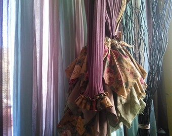 Women's handmade sweater jacket/women's handmade sweater coat/Upcycled sweater jacket/pixie coat/pixie jacket/steampunk bustle jacket