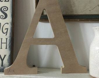 Unfinished wood letters,Individual Wood letters. Serif font letter. 12in wood letters,wooden letters, serif letters, unpainted letters