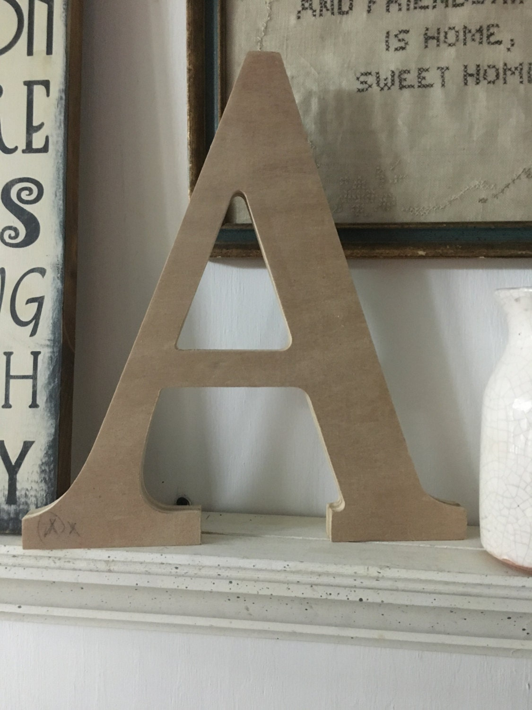 Unfinished wood lettersindividual wood letters serif font for Individual wooden letters