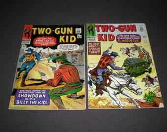 Two Gun Kid 80, 81, (1966), Billy the kid, Marvel Comics C08