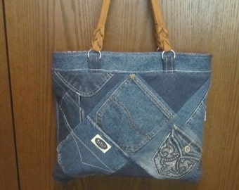 POCKET PATCHWORK DENIM Purse