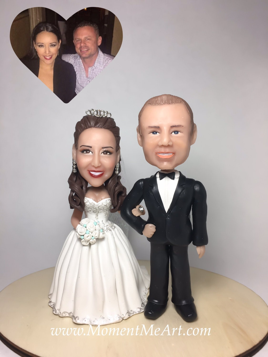 custom cake topper for wedding bride and groom cake by