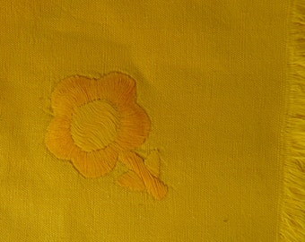 2 Yellow Flower Napkins