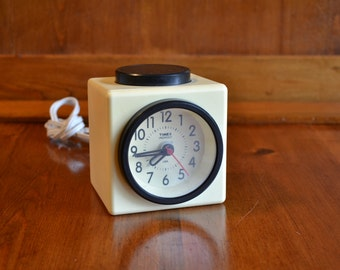 "Clock Alarm Vintage Timex ""Indiglo"" Electric Made in the USA"