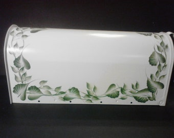Hand Painted Ivy Design Post Mount Mailbox