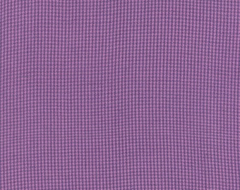 Cotton Quilt Fabric by the yard, Dapper Wovens- Houndstooth Space Invaders in Purple by Luke For Moda Fabrics, 12250 17