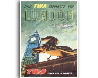 London Travel Poster Home Decor England Retro Art Print (XR722)
