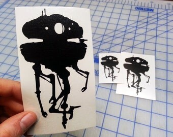 Viper Probe Droid decal.. Star Wars inspired Probe Droid decal.. Probe Droid decal.. Imperial Probe Droid decal.. Probe Droid vinyl decal..